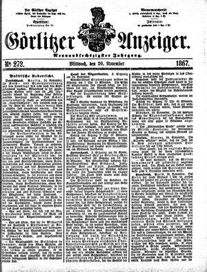 Görlitzer Anzeiger vom 20.11.1867