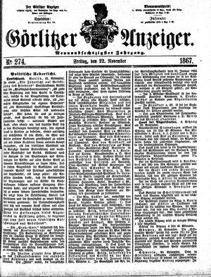 Görlitzer Anzeiger on Nov 22, 1867