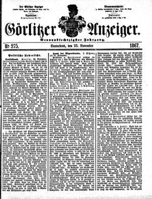 Görlitzer Anzeiger vom 23.11.1867