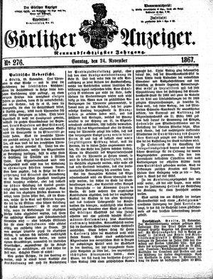 Görlitzer Anzeiger vom 24.11.1867