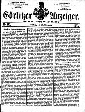 Görlitzer Anzeiger on Nov 26, 1867