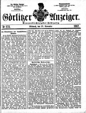 Görlitzer Anzeiger vom 27.11.1867