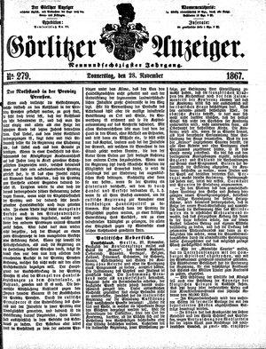 Görlitzer Anzeiger vom 28.11.1867