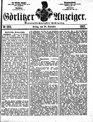Görlitzer Anzeiger vom 29.11.1867