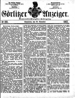 Görlitzer Anzeiger vom 30.11.1867