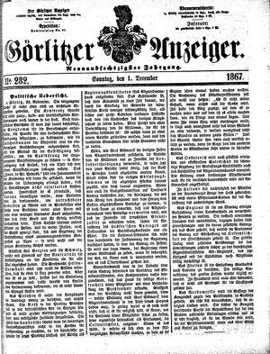 Görlitzer Anzeiger vom 01.12.1867