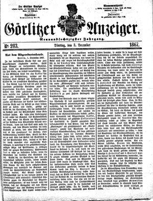 Görlitzer Anzeiger vom 03.12.1867