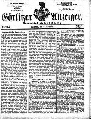 Görlitzer Anzeiger vom 04.12.1867
