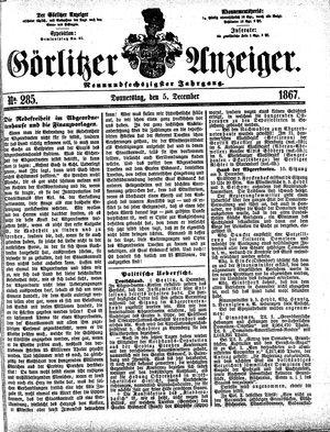 Görlitzer Anzeiger vom 05.12.1867