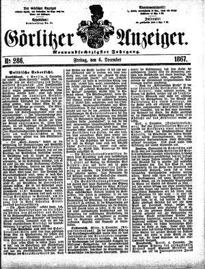 Görlitzer Anzeiger vom 06.12.1867