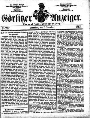 Görlitzer Anzeiger vom 07.12.1867