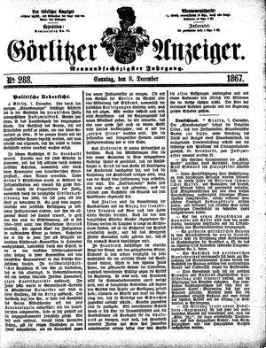 Görlitzer Anzeiger vom 08.12.1867