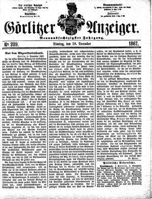 Görlitzer Anzeiger vom 10.12.1867