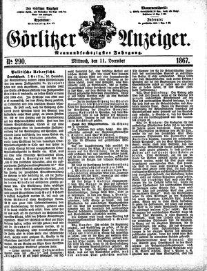 Görlitzer Anzeiger vom 11.12.1867