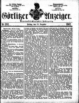 Görlitzer Anzeiger vom 13.12.1867