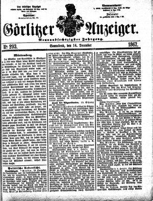 Görlitzer Anzeiger vom 14.12.1867