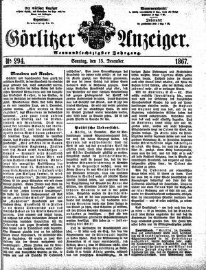 Görlitzer Anzeiger vom 15.12.1867