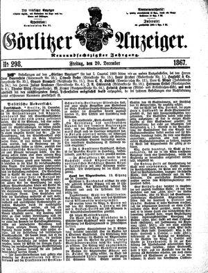 Görlitzer Anzeiger vom 20.12.1867