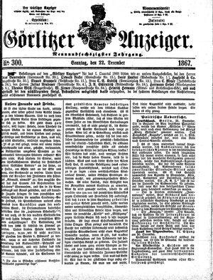 Görlitzer Anzeiger on Dec 22, 1867