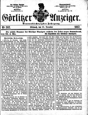 Görlitzer Anzeiger on Dec 25, 1867
