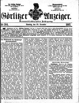 Görlitzer Anzeiger vom 29.12.1867