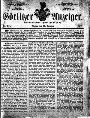 Görlitzer Anzeiger vom 31.12.1867