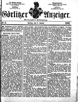 Görlitzer Anzeiger vom 03.01.1868