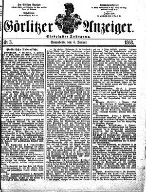 Görlitzer Anzeiger vom 04.01.1868