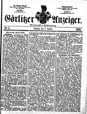 Görlitzer Anzeiger vom 07.01.1868
