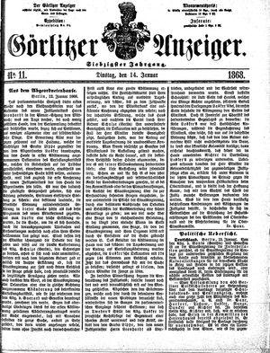 Görlitzer Anzeiger on Jan 14, 1868