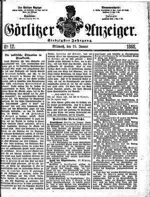Görlitzer Anzeiger vom 15.01.1868