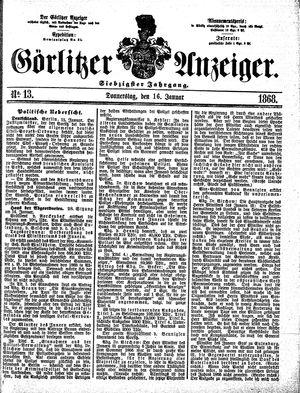 Görlitzer Anzeiger vom 16.01.1868