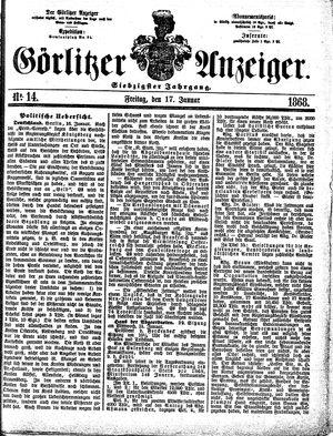 Görlitzer Anzeiger vom 17.01.1868