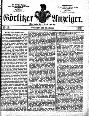 Görlitzer Anzeiger vom 18.01.1868