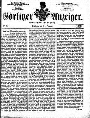 Görlitzer Anzeiger vom 21.01.1868