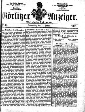 Görlitzer Anzeiger vom 23.01.1868
