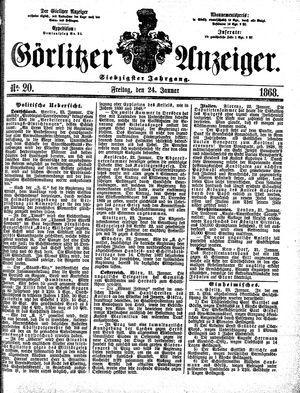 Görlitzer Anzeiger on Jan 24, 1868