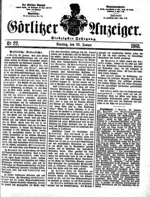 Görlitzer Anzeiger vom 26.01.1868