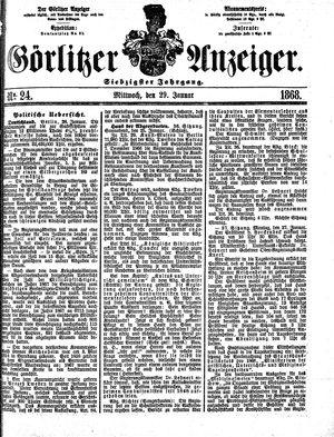 Görlitzer Anzeiger vom 29.01.1868