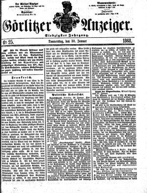 Görlitzer Anzeiger vom 30.01.1868