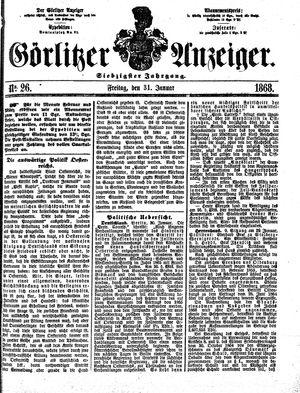 Görlitzer Anzeiger vom 31.01.1868