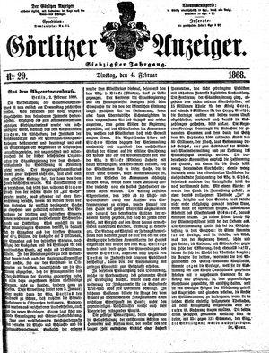 Görlitzer Anzeiger vom 04.02.1868