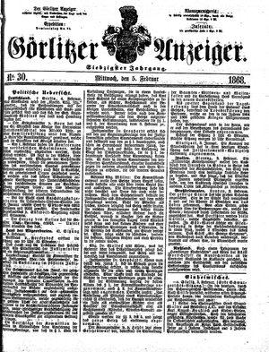 Görlitzer Anzeiger vom 05.02.1868