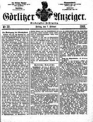 Görlitzer Anzeiger vom 07.02.1868
