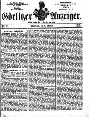 Görlitzer Anzeiger vom 08.02.1868