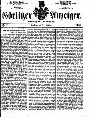 Görlitzer Anzeiger vom 11.02.1868