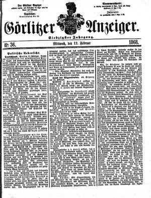 Görlitzer Anzeiger vom 12.02.1868