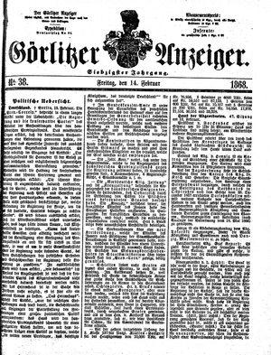 Görlitzer Anzeiger vom 14.02.1868
