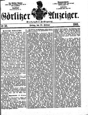 Görlitzer Anzeiger vom 28.02.1868