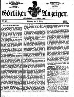 Görlitzer Anzeiger vom 01.03.1868